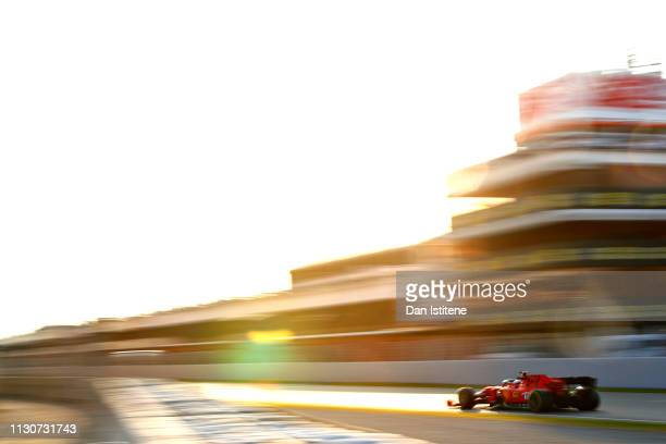 Charles Leclerc of Monaco driving the Scuderia Ferrari SF90 on track during day two of F1 Winter Testing at Circuit de Catalunya on February 19, 2019...