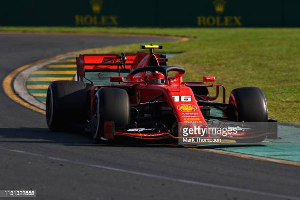 Charles Leclerc of Monaco driving the Scuderia Ferrari SF90 on track during the F1 Grand Prix of Australia at Melbourne Grand Prix Circuit on March...