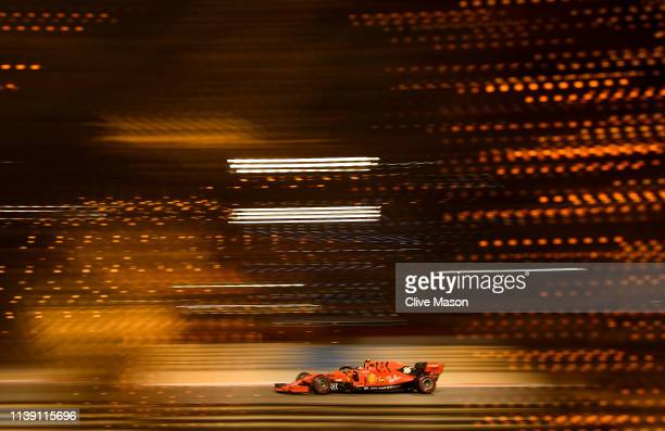 Charles Leclerc of Monaco driving the Scuderia Ferrari SF90 on track during practice for the F1 Grand Prix of Bahrain at Bahrain International...