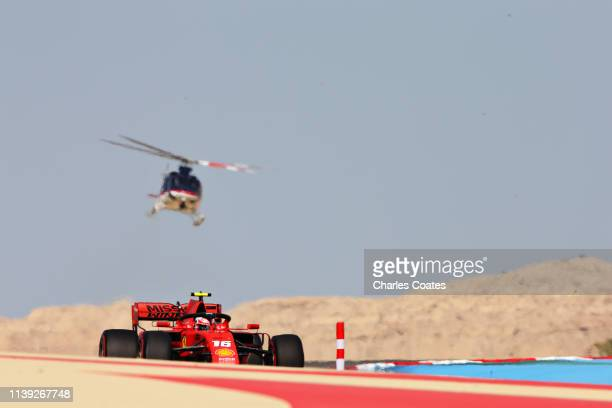 Charles Leclerc of Monaco driving the Scuderia Ferrari SF90 on track during final practice for the F1 Grand Prix of Bahrain at Bahrain International...