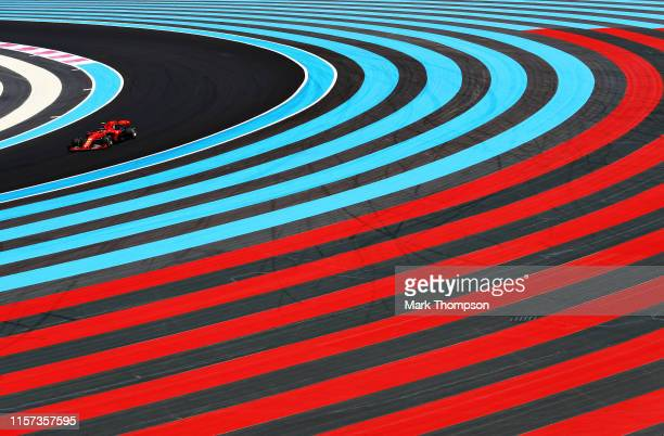 Charles Leclerc of Monaco driving the Scuderia Ferrari SF90 on track during practice for the F1 Grand Prix of France at Circuit Paul Ricard on June...