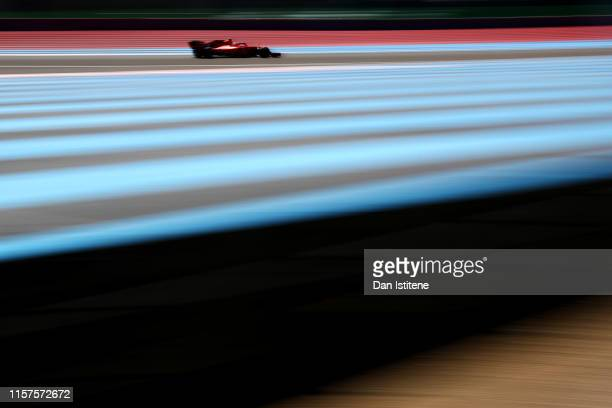 Charles Leclerc of Monaco driving the Scuderia Ferrari SF90 on track during qualifying for the F1 Grand Prix of France at Circuit Paul Ricard on June...