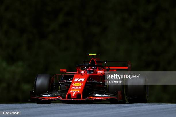 Charles Leclerc of Monaco driving the Scuderia Ferrari SF90 on track during practice for the F1 Grand Prix of Austria at Red Bull Ring on June 28...