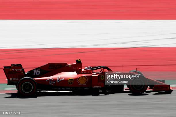 Charles Leclerc of Monaco driving the Scuderia Ferrari SF90 on track during final practice for the F1 Grand Prix of Austria at Red Bull Ring on June...
