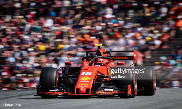 Charles Leclerc of Monaco driving the Scuderia Ferrari SF90 on track during qualifying for the F1 Grand Prix of Austria at Red Bull Ring on June 29...