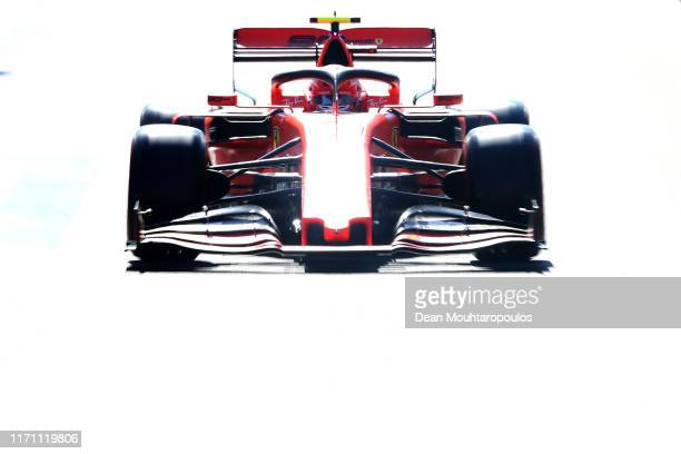 Charles Leclerc of Monaco driving the Scuderia Ferrari SF90 on track during practice for the F1 Grand Prix of Belgium at Circuit de Spa-Francorchamps...