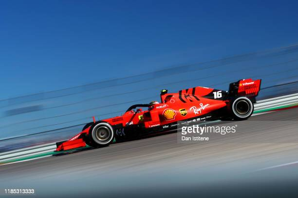 Charles Leclerc of Monaco driving the Scuderia Ferrari SF90 on track during the F1 Grand Prix of USA at Circuit of The Americas on November 03 2019...