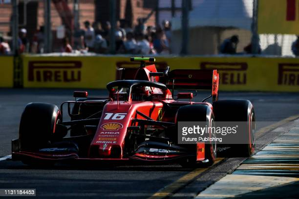 Charles LECLERC of Scuderia Ferrari Mission Winnow during qualifying on day 3 of the 2019 Formula 1 Australian Grand Prix