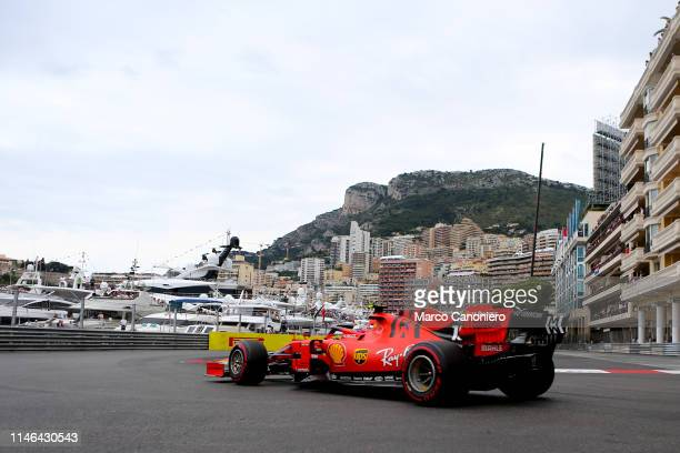 Charles Leclerc of Scuderia Ferrari on track during the F1 Grand Prix of Monaco