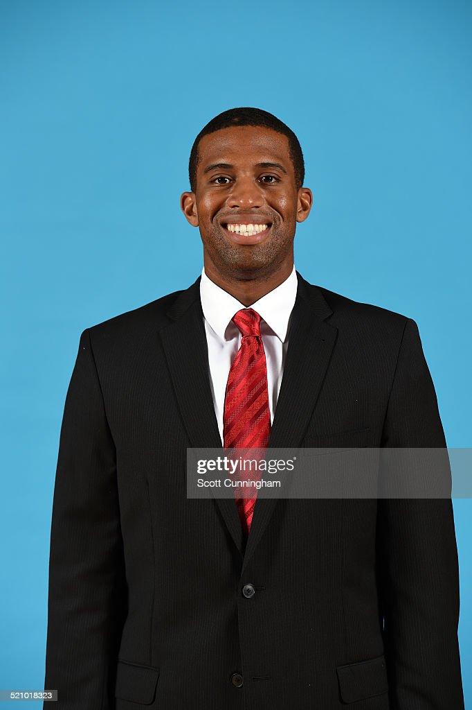 Charles Lee of the Atlanta Hawks poses for a photograph during the Atlanta Hawks Media Day on September 29, 2014 at Philips Arena in Atlanta, Georgia.