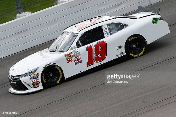 Charles Lewandoski driver of the Toyota drives during qualifying for the NASCAR XFinity Series 3M 250 at Iowa Speedway on May 16 2015 in Newton Iowa