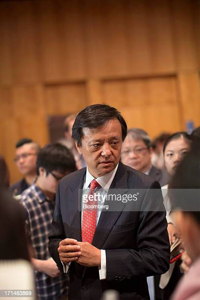 Charles Li chief executive officer of Hong Kong Exchanges and Clearing Ltd speaks to members of the media during the London Metal Exchange Week Asia...