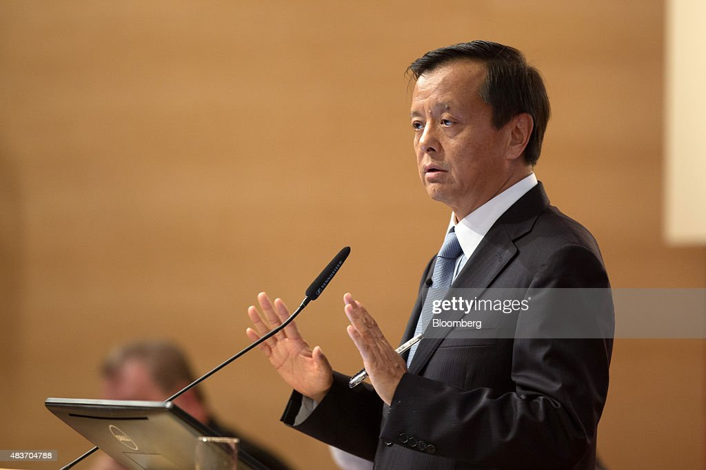 Charles Li, chief executive officer of Hong Kong Exchanges & Clearing Ltd. (HKEx), gestures as he speaks during a news conference in Hong Kong, China, on Wednesday, Aug. 12, 2015. Hong Kong Exchanges headed for its steepest slide in two weeks after the bourse operator's profit missed estimates. Photographer: Jerome Favre/Bloomberg via Getty Images