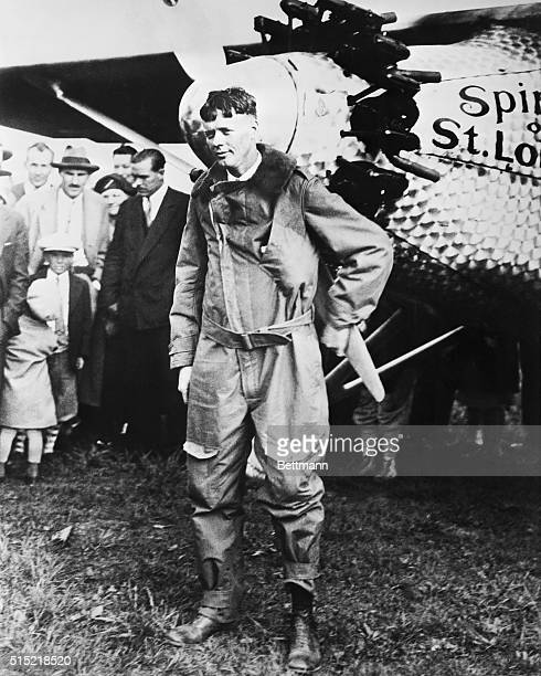 Charles Lindbergh with Spirit Of St. Louis