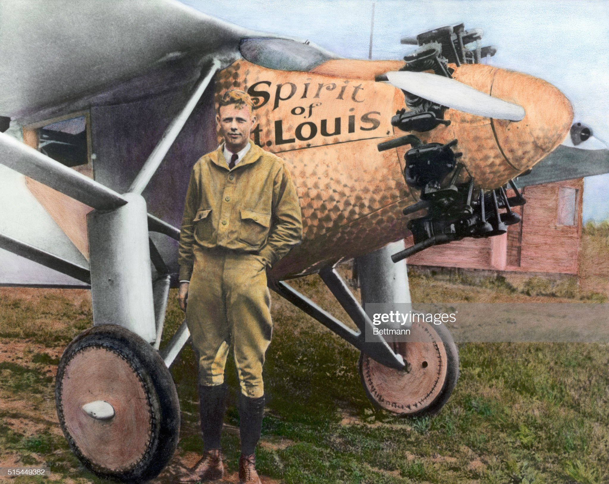 Charles Lindbergh with the Spirit of St. Louis : News Photo