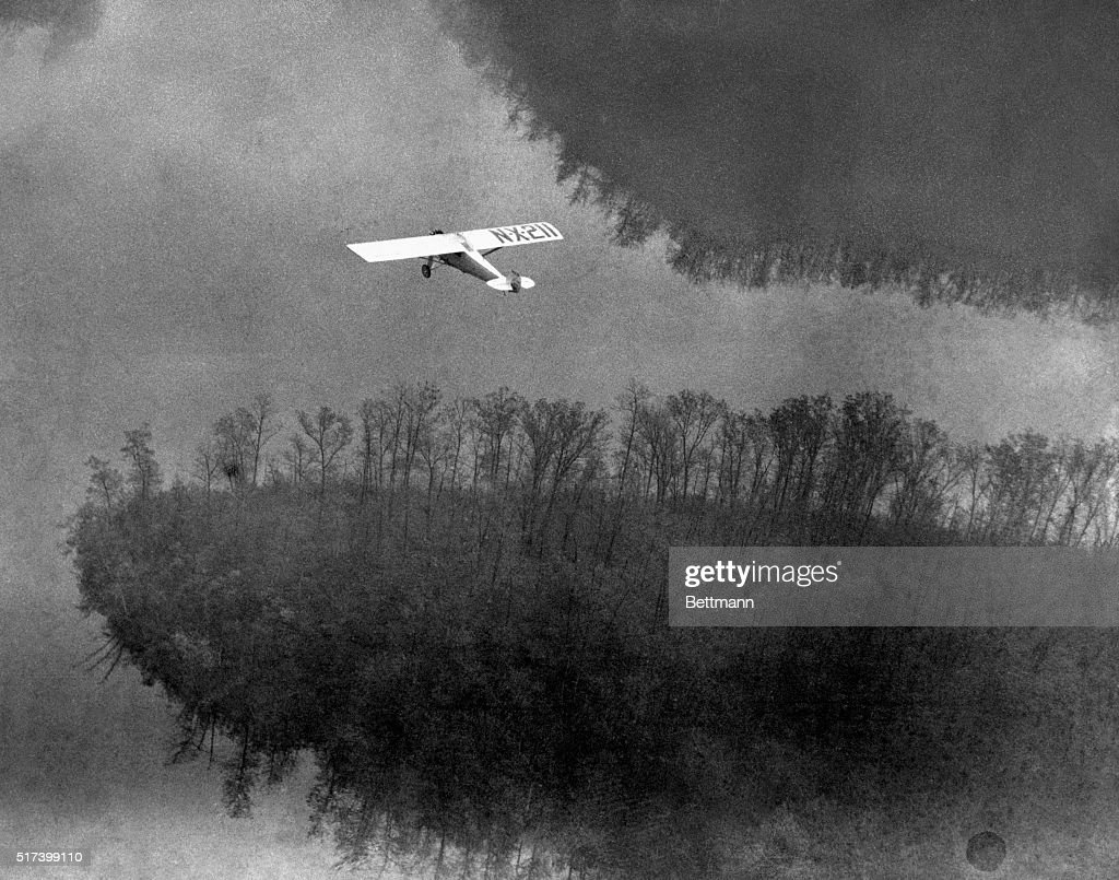Charles Lindbergh's Spirit of St. Louis in Flight