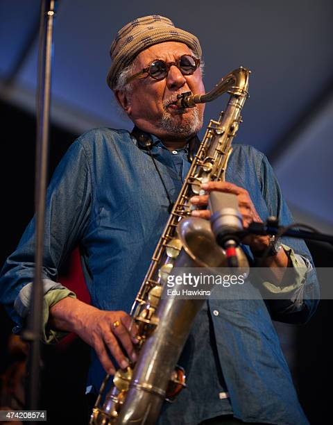 Charles Lloyd performs on stage during day 6 of the New Orleans Jazz and Heritage Festival on May 2 2015 in New Orleans United States