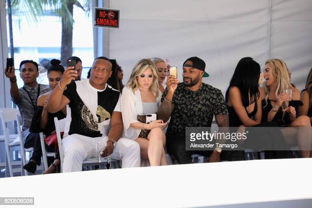 Charles Malachi Joelle Ashley Tyson Beckford Harmony Carter and Khloe Terae attend the SWIMMIAMI Prey Swim by Audrina Patridge Resort 2018 Collection...