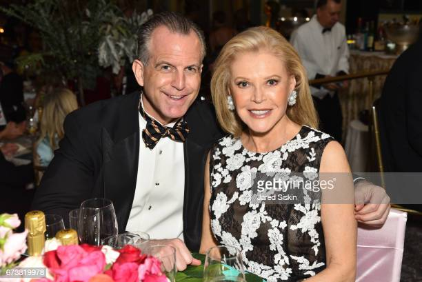 Charles Manger and Audrey Gruss attend New York Flower Show Dinner Dance A Benefit for The Horticultural Society of New York at The Pierre Hotel on...