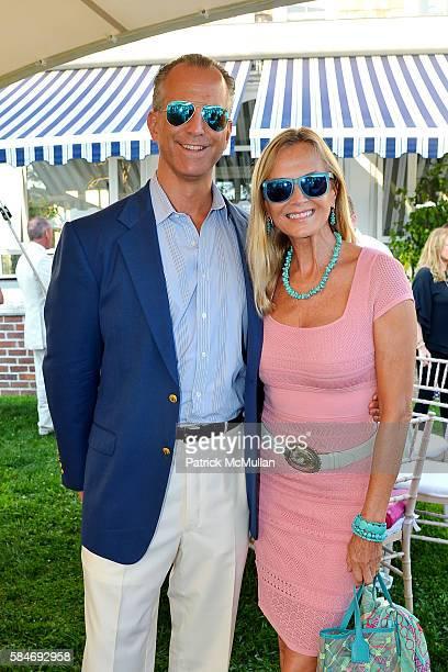 Charles Manger and Bonnie Pfeifer Evans attend the Alzheimer's Association Hosts Rita Hayworth Gala Hamptons Kickoff Event at Ashgrove Farm on July...