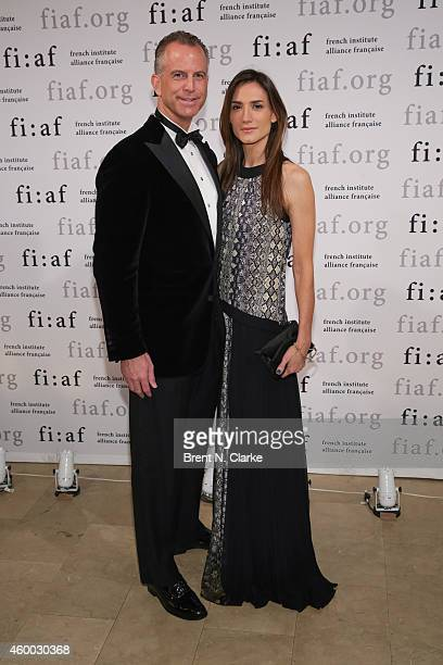 Charles Manger and Zani Gugelmann arrive for the 2014 Trophee des Arts Gala at The Plaza Hotel on December 5 2014 in New York City