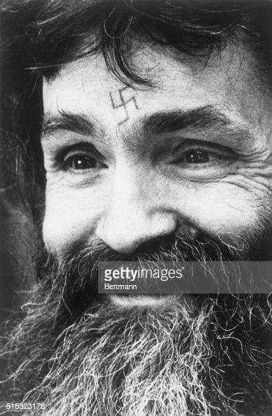 Charles manson with swastika tattoo on forehead pictures for Charles manson tattoos