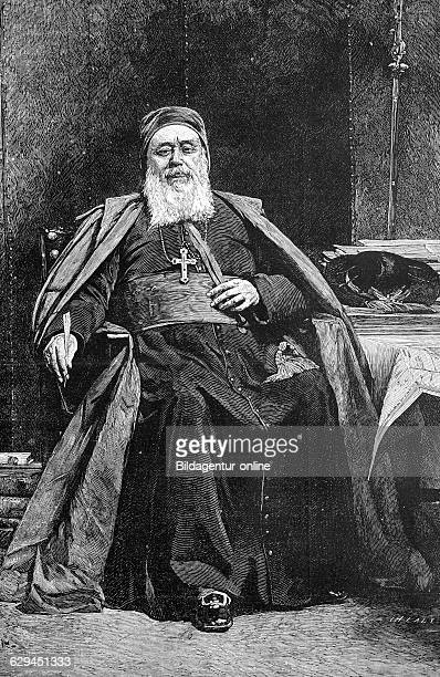 Charles martial allemand lavigerie 1825 1892 a french roman catholic cardinal and founder of an order historic wood engraving about 1888