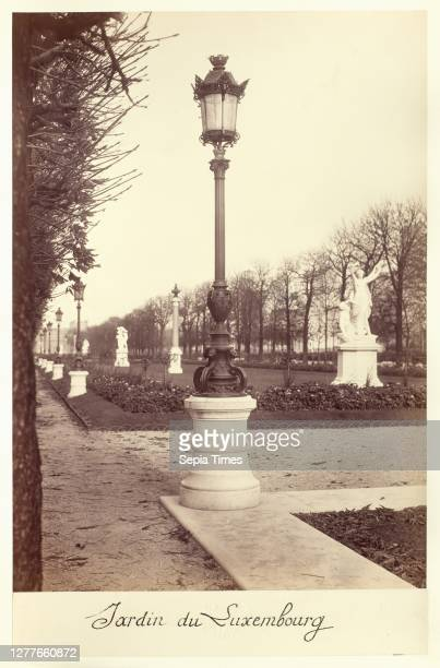 Charles Marville, French, 1816–1879, Jardin du Luxembourg, 1870s, Albumen print from wet-collodion-on-glass negative, Overall: 14 1/8 x 10 1/2 in. .