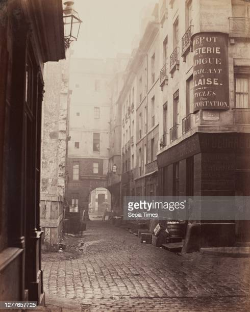 Charles Marville, French, 1816–1879, Rue au lard, c. 1860–1870, printed 1870–1872, Albumen print from glass negative, image: 13 5/16 x 10 5/8 in. .