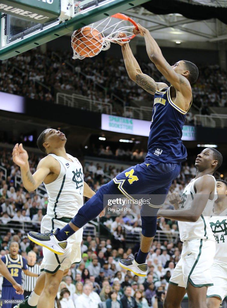 Michigan v Michigan State : News Photo