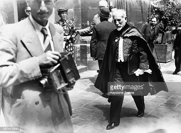 Charles Maurras At A French Academy Ceremony On June 8Th 1939