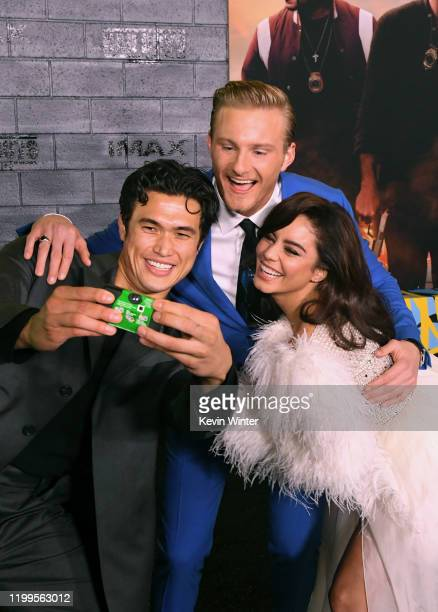 Charles Melton Alexander Ludwig and Vanessa Hudgens attend the premiere of Columbia Pictures' Bad Boys For Life at TCL Chinese Theatre on January 14...
