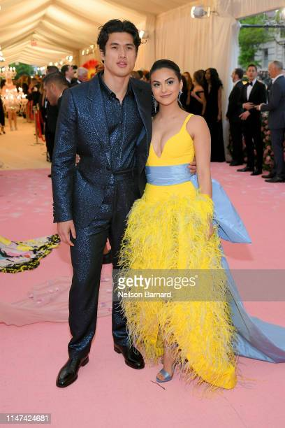 Charles Melton and Camila Mendes attend The 2019 Met Gala Celebrating Camp: Notes on Fashion at Metropolitan Museum of Art on May 06, 2019 in New...