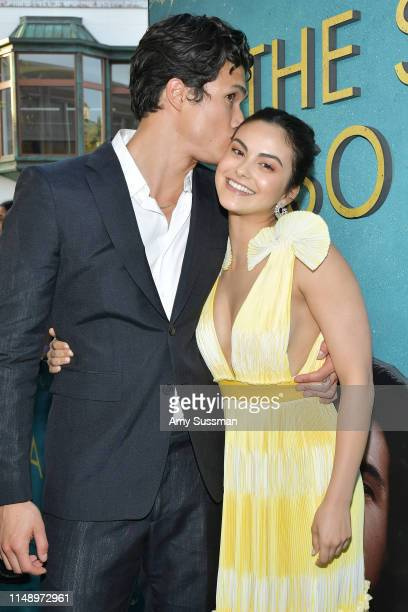 """Charles Melton and Camila Mendes attend the world premiere of Warner Bros """"The Sun Is Also A Star"""" at Pacific Theaters at the Grove on May 13, 2019..."""