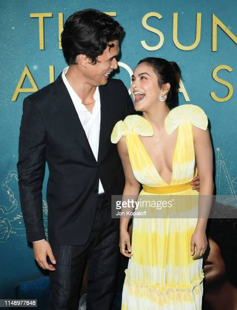 Charles Melton and Camila Mendes attend the World Premiere Of Warner Bros The Sun Is Also A Star at Pacific Theaters at the Grove on May 13 2019 in...
