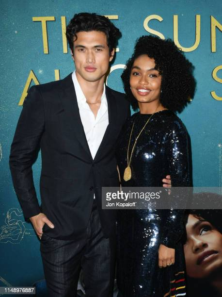 Charles Melton and Yara Shahidi attend the World Premiere Of Warner Bros The Sun Is Also A Star at Pacific Theaters at the Grove on May 13 2019 in...