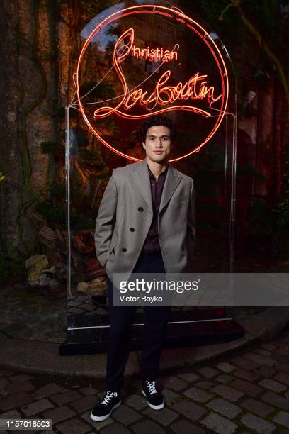 Charles Melton attends the Loubicircus Party by Christian Louboutin at Musee des Arts Forains as part of Paris Fashion Week on June 19 2019 in Paris...