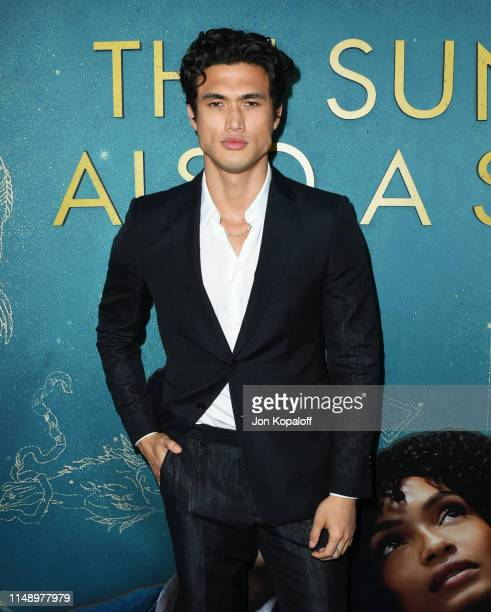 Charles Melton attends the World Premiere Of Warner Bros The Sun Is Also A Star at Pacific Theaters at the Grove on May 13 2019 in Los Angeles...
