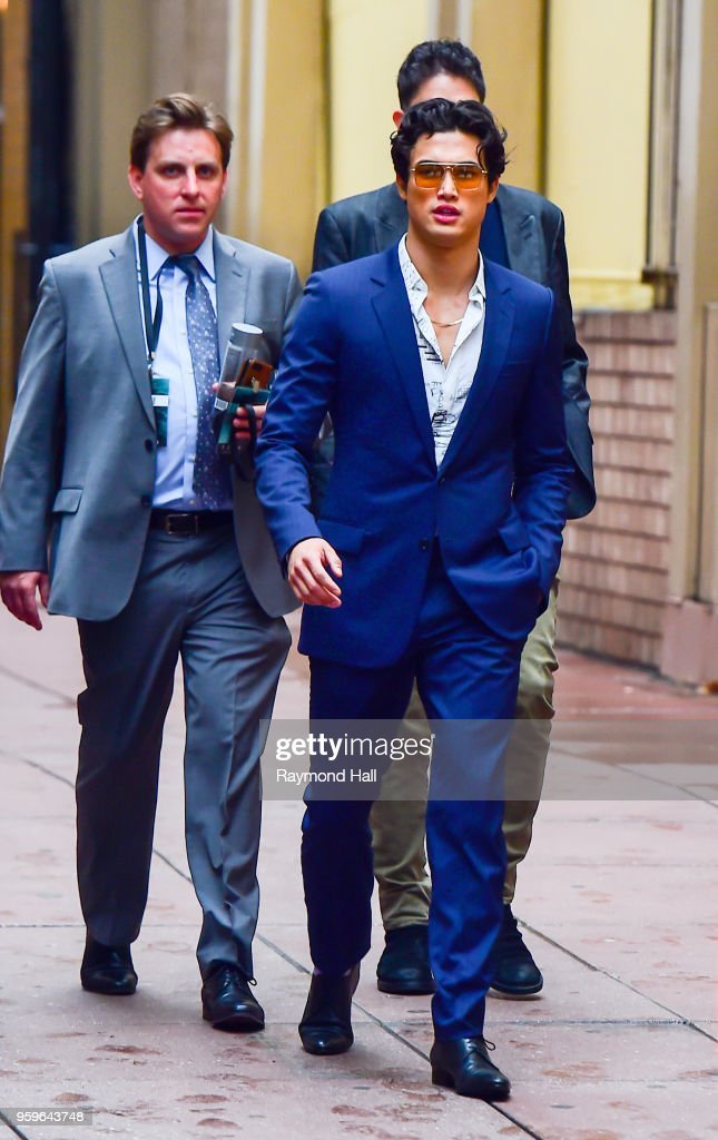 Charles Melton is seen walking in midtown on May 17, 2018 in New York City.