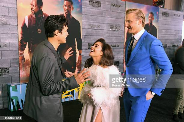 Charles Melton Vanessa Hudgens and Alexander Ludwig attend the premiere of Columbia Pictures' Bad Boys For Life at TCL Chinese Theatre on January 14...
