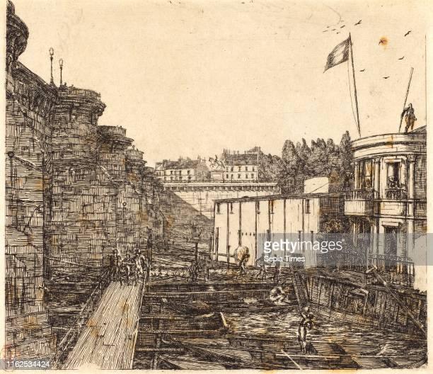 Charles Meryon French Bainfroid chevrier dit 'de l'Ìäcole' etching