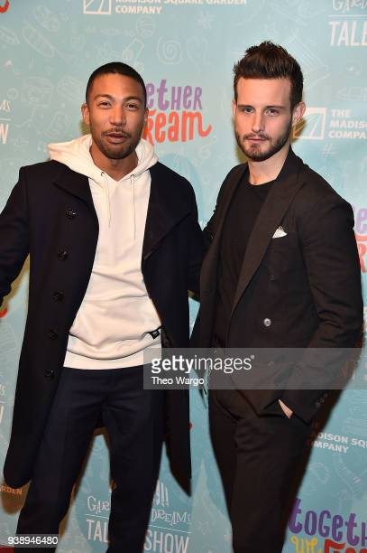 Charles Michael Davis and Nico Tortorella attend Garden Of Dreams Foundation's 12th Annual Talent Show at Radio City Music Hall on March 27 2018 in...