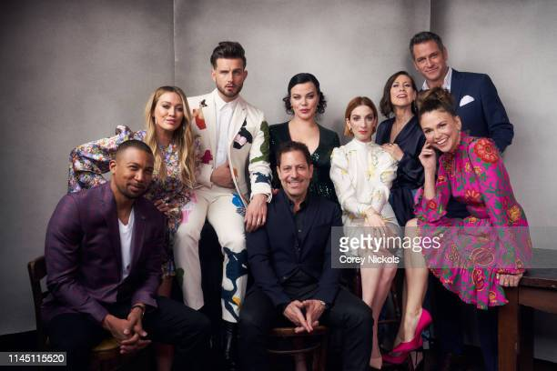 Charles Michael Davis Hilary Duff Nico Tortorella Darren Star Debi Mazar Molly Bernard Miriam Shor Sutton Foster and Peter Hermann of the series...