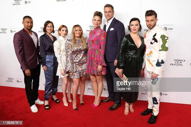 Charles Michael Davis Miriam Shor Molly Kate Bernard Hilary Duff Sutton Foster Peter Hermann Debi Mazar and Nico Tortorella attend a screening of...