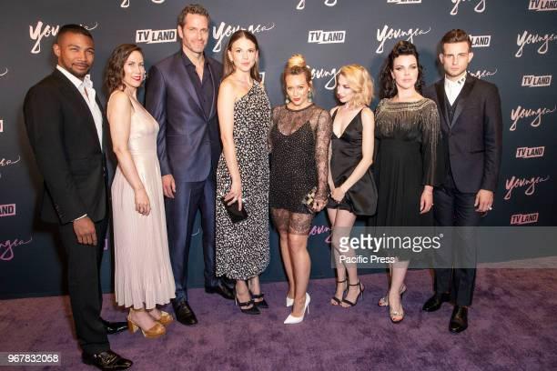 Charles Michael Davis Miriam Shor Peter Hermann Sutton Foster Hilary Duff Molly Bernard Debi Mazar Nico Tortorella attend Younger Season 5 Premiere...