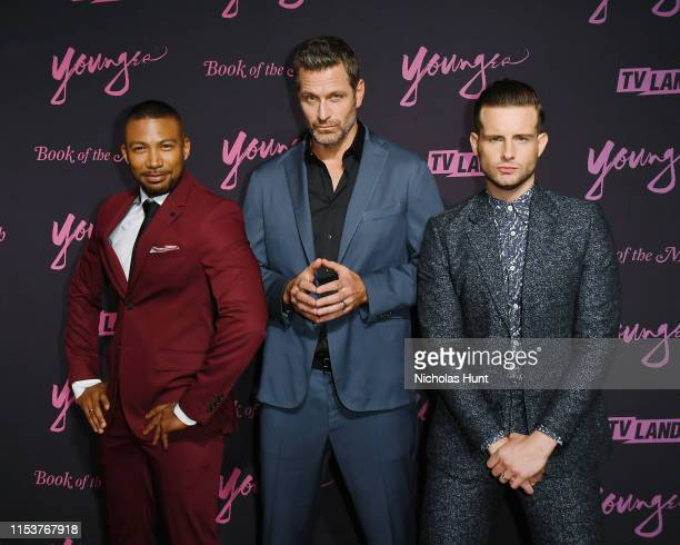 Charles Michael Davis Peter Hermann and Nico Tortorella attends the screening of Younger Season 6 New York Premiere at William Vale Hotel on June 04...