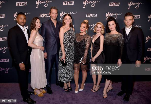 Charles Michael DavisMiriam ShorPeter HermannSutton FosterHilary DuffMolly BernardDebi Mazar and Nico Tortorella attend the Younger Season 5 Premiere...