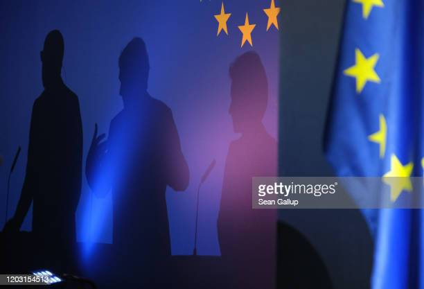 Charles Michel , President of the European Council, David Sassoli , President of the European Parliament, and Ursula von der Leyen, President of the...