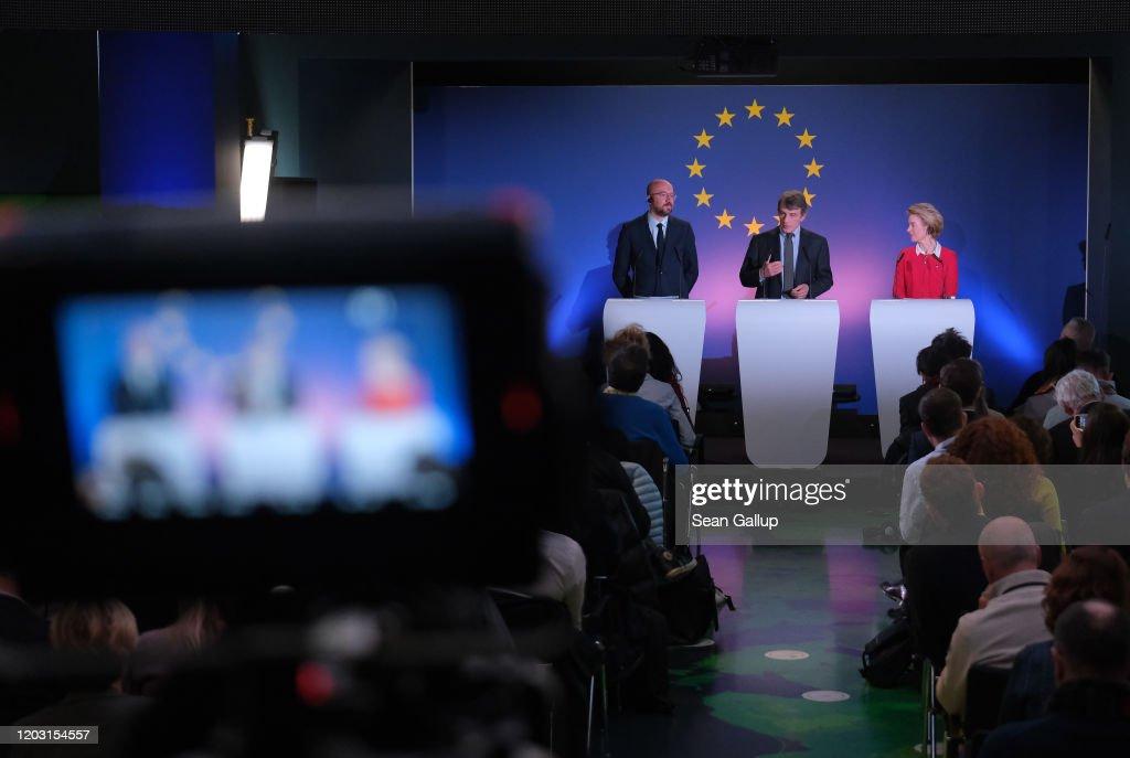 EU Leaders Speak On Future Of Europe Hours Before UK Departure : ニュース写真