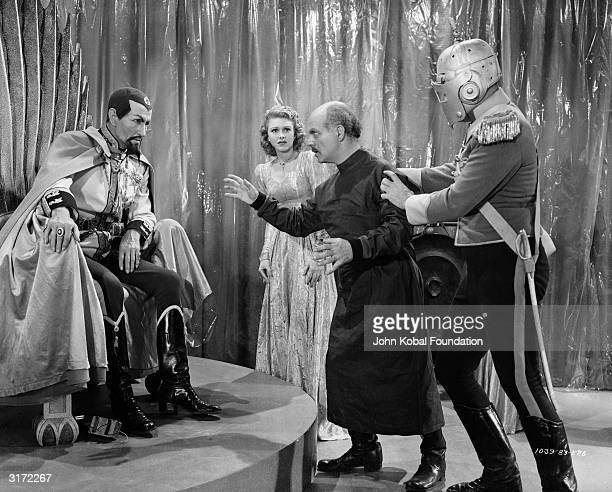 Charles Middleton is Ming the Merciless, Emperor of the planet Mongo in episode six of the sci-fi sequel 'Flash Gordon Conquers the Universe',...